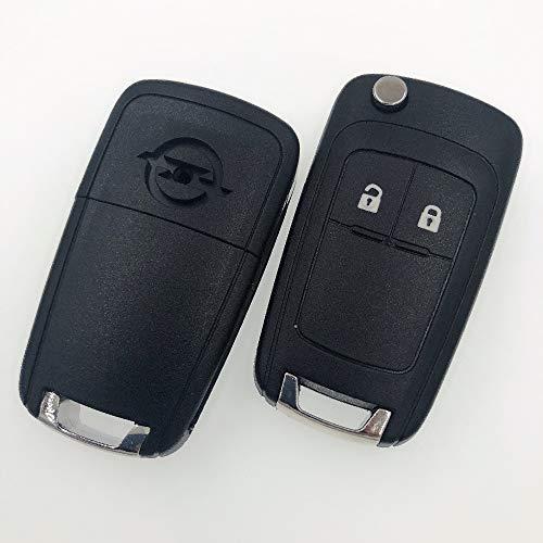 2 Taste Remote Key Blank für Opel Zafira Astra Insignia Holden Flip-Auto-Schlüssel Shell Cover Fob Gehäuse mit verschraubtem