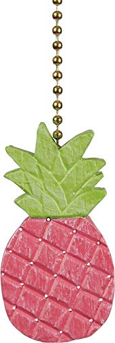 Clementine Designs Pretty in Pink Pineapple Ceiling Fan Light Dimensional Pull