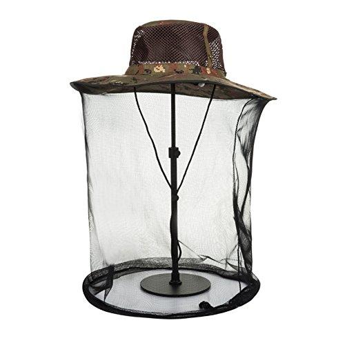 Chapeau Chapeau d'été, Sun Hat Hommes Mesh Voile Couverture Face Anti-Moustique Bite Ventilate Escalade Pêche, 6 Couleurs en Option (Couleur : # 2)
