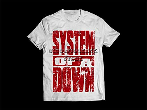 Camiseta/Camisa Masculina System Of A Down Metal Tamanho:P;Cor:Branco