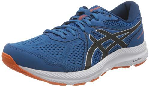 ASICS Herren Gel-Contend 7 Road Running Shoe, Reborn Blue/Black, 44 EU