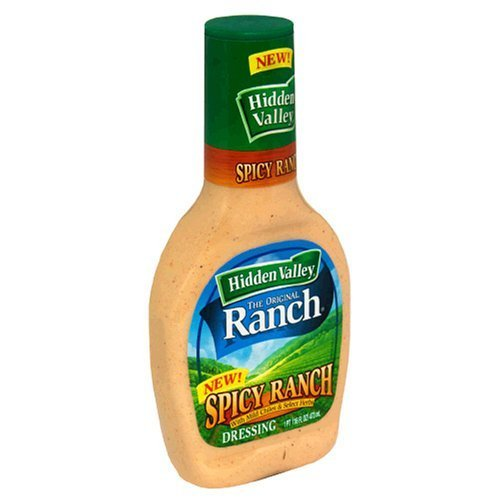 Hidden Valley Spicy Ranch Salad Dressing 16oz (Pack of 3)