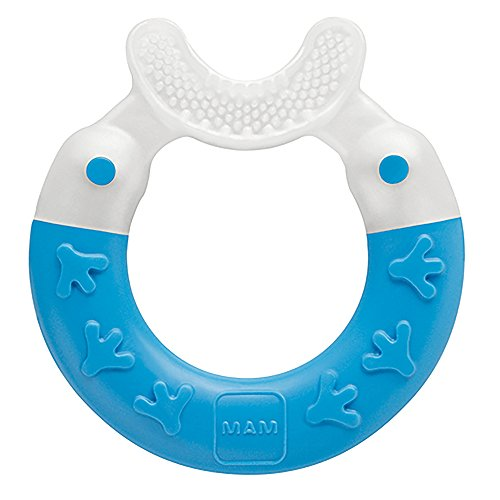 MAM Bite and Brush Teether, Blue, 3 Plus Months