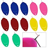 Upgrade Needle Threader for Hand Sewing TOOVREN 12 Pcs Plastic Wire Loop DIY Simple Threader for Needles, Needle Threader for Sewing Machine, Needle Threaders Tool for Small Eye Needles (Random Color)