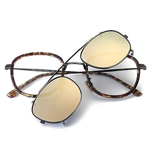JKHOIUH Gafas de Sol cuadradas Retro para Hombres y Mujeres, Dos Pares de anteojos Diseño de Moda clásico de Alta Gama, tirón Estilo Calle para Viajes de conducción al Aire Libre (Color : Rosa
