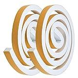 YOTINO 2 rotoli di nastro adesivo in schiuma da 25 x 20 mm, guarnizione autoadesiva per porte e finestre (bianco)