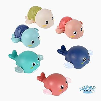 Bath Swimming Toys Wind Up Bathtub Swimmer Bath Turte Dolphins Cute Water Toys 6 Packs