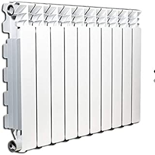 Termosifón radiador calentador de agua o vapor elementos de aluminio fundido Marca: Fondital mod. Exclusivo B3 600/100 distancia entre ejes 600 mm 50x60mm (5 elementi) Bianco