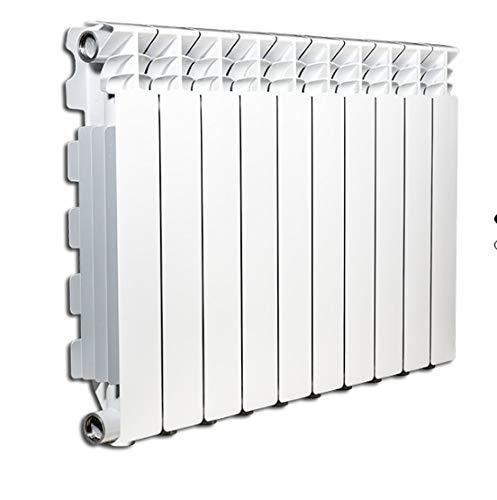 Radiador calefactor de agua o vapor Elementos de aluminio fundido Marca: Fondital mod. Exclusivo B3 800/100 Distancia entre ejes 800 mm (50 x 80 mm (5 elementos)