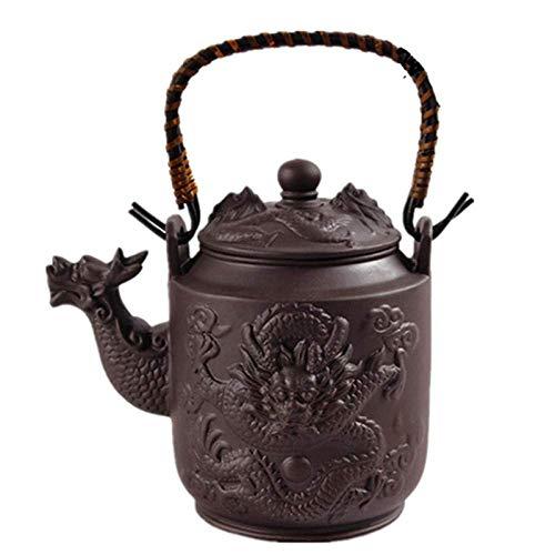 DJY-JY Tetera de Arcilla púrpura del té de Hierro Fundido Ollas 780Cc Dragón Púrpura Arcilla Tetera Yixing Hervidor Kung Fu Recipientes de Gran Capacidad