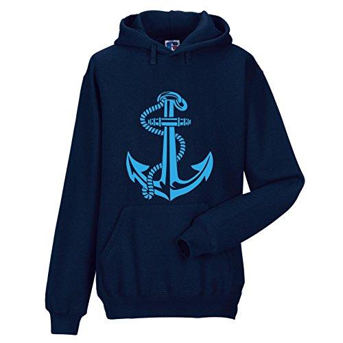 Anker Sudadera con toldo Hoodie Boot Hanse Ciudad Puerto Marineros Camiseta Capitán Pirata contramaestre Ahoi