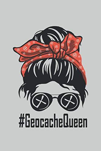 #GeocacheQueen: 6 x 9 lined journal | Funny geocache queen geocaching queen for geocache Geocach mom GPS lover gift