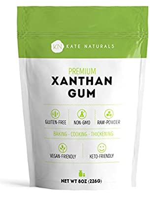 Kate Naturals Xanthan Gum. 100% Natural. Perfect For Gluten-Free Baking, Cooking & Thickening Sauces, Gravies & Shakes. Non-GMO. Large Resealable Bag. 1-Year Guarantee.