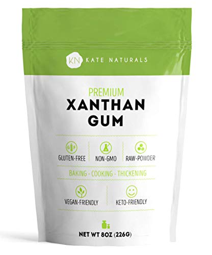 Xanthan Gum for Baking and Thickening Sauces by Kate Naturals. 100% Natural. Perfect For Gluten-Free Baking, Cooking, Gravies & Shakes. Non-GMO. Large Resealable Bag 8oz