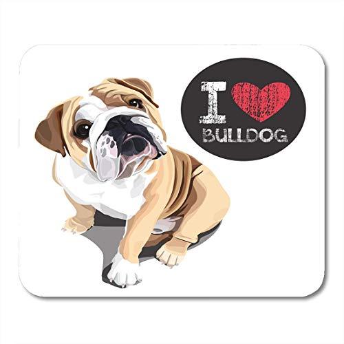 Mauspad tier nahaufnahme porträt der haushund bulldogge rasse mousepad für notebooks, Desktop-computer mausmatten