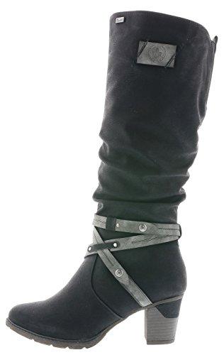 Rieker Damen Stiefel, Schwarz - 2