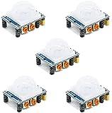 ICQUANZX 5Pcs HC-SR501 Adjustable IR Pyroelectric Infrared PIR Motion Sensor Detector PID Modules for Arduino & Raspberry Pi Projects
