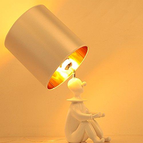GUOJINE Lampada Da Tavolo Lampada Da Comodino Lampada Da Tavolo Di Moda Creativa Lampada, Bianco E Nero Cafe Bar Decorazione Del Regalo Lampada Di Illuminazione Personalità Bambini Studio Di Illuminaz
