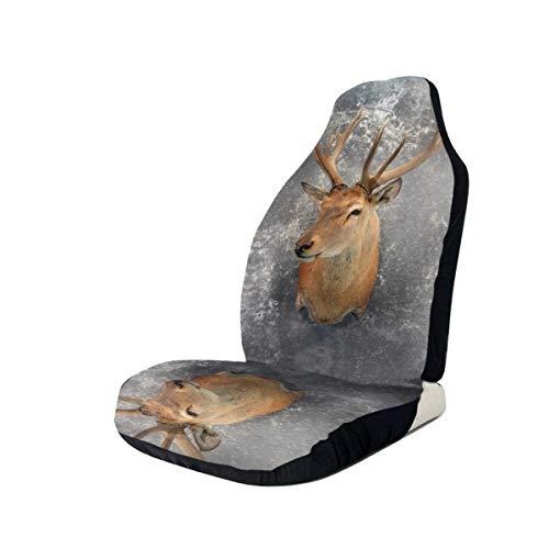Autositzbezüge Animal Deer Bedruckte Autositzbezüge Vordersitze passen für die meisten Autos, LKWs, SUVs