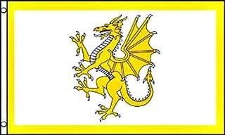 3'x5' WELSH GOLDEN DRAGON FLAG, Wales banner