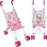 Dolls Pram Toys (UK COMPANY) Pram Baby Doll Pram Buggy Baby Stroller Kids