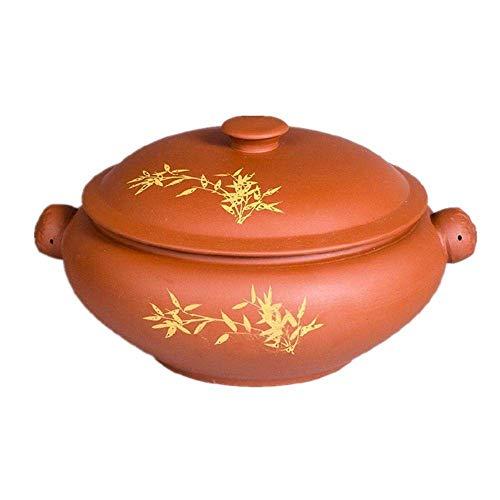 PIVFEDQX Cazuela De Arcilla PúRpura Yunnan Zisha Steamer Estufa De CeráMica Estufa Sopa Utensilios De Cocina Olla De CeráMica para Uso Multiusos