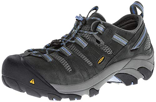 KEEN Utility Women's Atlanta Cool Low Steel Toe ESD Work Shoe, Gargoyle/Gargoyle, 8.5 Medium US
