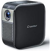 Mini Projecteur, Crosstour Vidéoprojecteur Poche Portable DLP 1080P Full HD Prise en Charge Compatible avec iPhone/Android/Ordinateur Portable pour le Divertissement à la Maison et à l'Extérieur