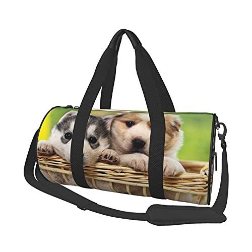 Bolsa de viaje para perro, ligera, suave y duradera, de gran capacidad, portátil, cilíndrica, para entrenamiento deportivo, bolsa de ocio