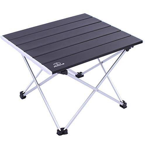 MSSOHKAN Camping Table Folding Portable Camp Side Table Aluminum Lightweight Carry Bag Beach Outdoor Hiking Picnics BBQ Cooking Dining Kitchen