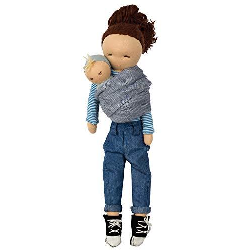 Hoppa Puppe Lisa & Lilly, Stoffpuppe mit Kleidung und Haaren - 30 cm