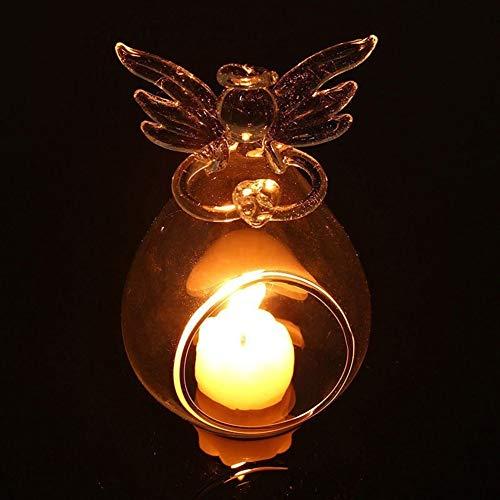 pittospwer Teelichthalter aus Glas, Engel, Teelicht, für Party, Hochzeit, Abendessen zu Hause, Dekoration