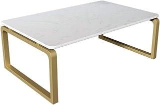 HMH 日本茶テーブル、大理石完了金属コーヒーテーブルレセプションルームレストランホーム床に立っダイニングテーブル 便利で美しい (Color : A, Size : 60*40*30CM)
