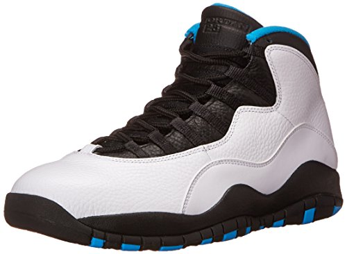Nike Herren Air Jordan Retro 10 Fitnessschuhe, Weiß Blau Schwarz Weiß Dk Pulver Blau Schwarz, 46 EU