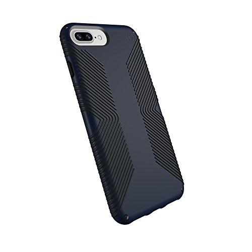 Speck Products Presidio Grip Case for iPhone 8 Plus (Also fits 7 Plus and 6S Plus /6 Plus), Eclipse Blue/Carbon Black