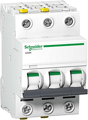 Schneider A9F03350 Leitungsschutzschalter iC60N, 3P, 50A, B Charakteristik