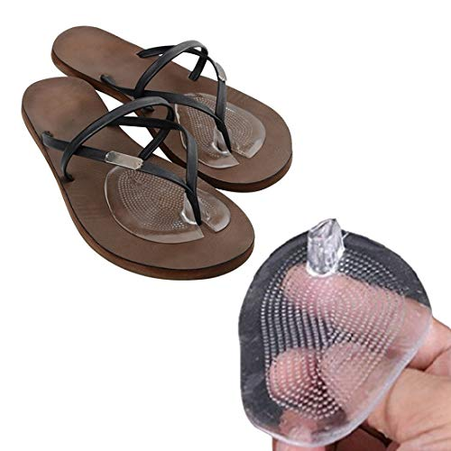 Vorfuß Pad/Anti-Rutsch/Transparent Vorfuß Schuheinlagen Kissen Einlegesohlen Flip Flops High Heel Pad Sandalen Protector Soft Silikon