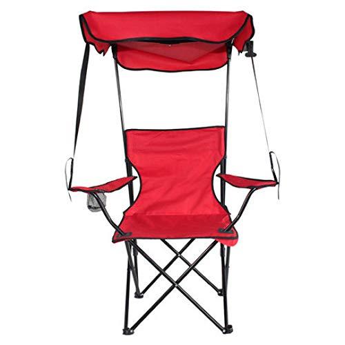 LIUQIAN Camping-Stühle Outdoor Klappstuhl tragbare verstellbare Rückenlehne Design mit Schuppen Sonnenschirm Strand Angeln Stuhl Lounge Chai