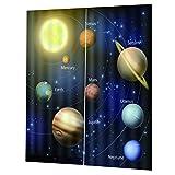 F Fityle Universum Planet Verdunkelungsvorhang Thermovorhang Vorhänge Vorhang Duschvorhang Dekoration - 170 x 200 cm