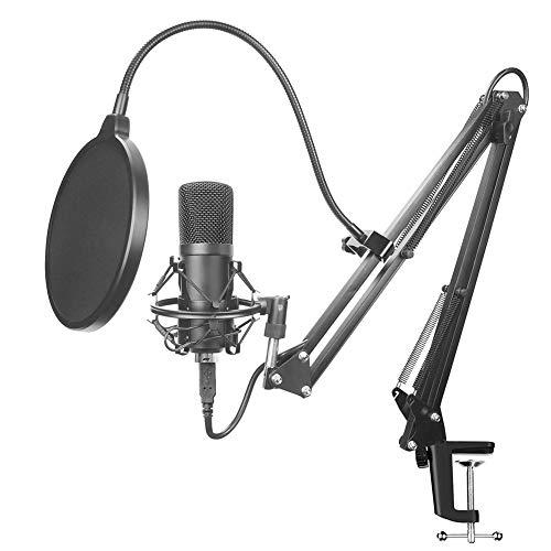BLKykll Professioneller USB Kondensator Mikrofon Kit Hohe Abtastrate Von 192 kHz / 24 Bit USB-Computermikrofon Bm800 Mikrofonset