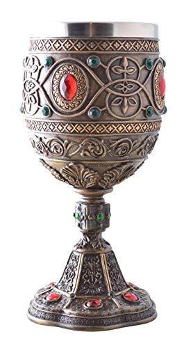 Vogler 708-7089 Der Heilige Gral Kelch mit Metalleinsatz Weinkelch Ritter Excalibur
