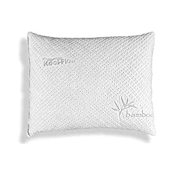 Hypoallergenic Bamboo Pillow - Shredded Memory Foam With Kool-Flow Micro-Vented Bamboo Cover - Hypoallergenic and Dust Mite Resistant (Standard)