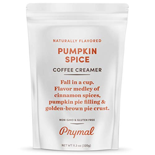 PRYMAL Pumpkin Spice Coffee Creamer - Keto, Non Dairy, Sugar Free - 100% Natural, Non Refrigerated Powder with MCT - 11.3oz Bag