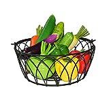 MYHZH Cesta de Frutas, Alambre del Cuenco de Fruta de la Pieza Central de Cocina y Comedor mesadas, mesas, vitrinas y refrigeradores
