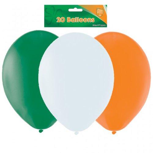 Talking Tables Amscan 20 Irish St Patricks Balloons Asstd in Green, White and Orange
