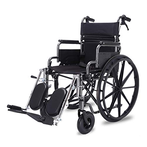 Best Bargain ROY Folding Lightweight Transport Wheelchair, Foldable Pedal Length Adjustable and Seat...