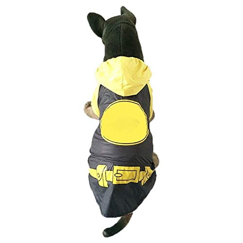 Ccgdgft Huisdier Regenjas Poncho Regenjas Regenkleding Reflecterende Lichtgewicht Waterdicht Voor Grote Medium Kleine Hond Jumpsuit Kleding Geel (Maat: 2XL: 45 * 58 * 42cm), 5XL: 65 * 80 * 54cm