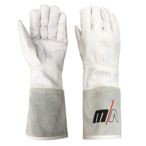 Vector Welding - Guantes de piel para soldar, resistentes al calor en trabajos de soldadura, resistentes al calor, guantes de trabajo largos de piel