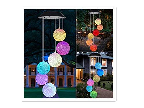2019 LED Solar Solarlicht Windspiele licht,Überraschungsgeschenk für Freundinnen Mütter Tochter, Bloodfin Garten hängen Spinner Lampe Farbwechsel Lichterkette Außen Dekoration Lichter (Mehrfarbig)