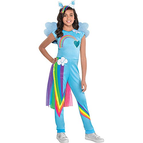 Party City My Little Pony Rainbow Dash Costume for Girls, Small, Dress and Accessories Included